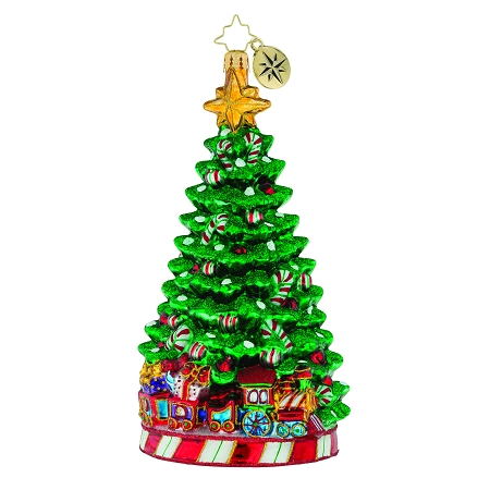 RADKO 1019160 PEPPERMINT PANACHE - JEWELED TREE WITH CANDY CANES ORNAMENT - NEW 2018 (68-1)