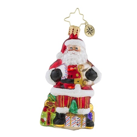 RADKO 1019170 CHECKING IT TWICE GEM - SANTA WITH LIST AND GIFTS ORNAMENT - NEW 2018 (26-1)