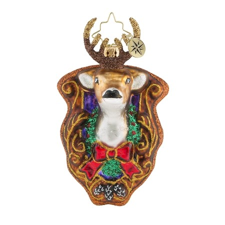 RADKO 1019171 OH DEER GEM - MOUNTED DEER HEAD ORNAMENT - NEW 2018 (26-1)