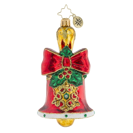 RADKO 1019386 HOLLY BELL BEAUTY - JEWELED BELL ORNAMENT - NEW 2018 (68-1)