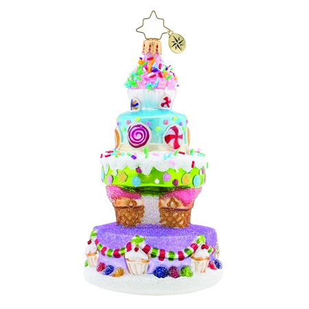 RADKO 1019673 DELICIOUSLY DELIGHTFUL CAKE - MULTI-TIERED CANDY CAKE ORNAMENT - NEW 2019 (68-2)