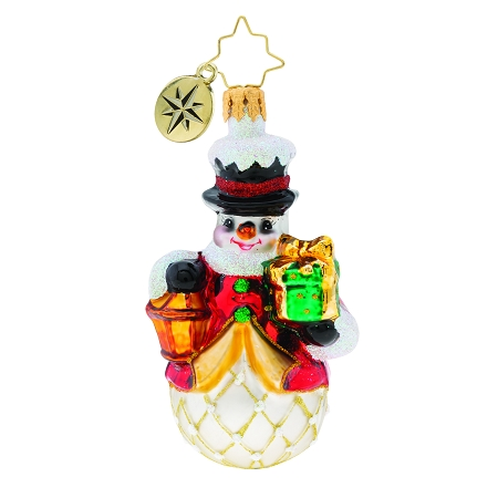 RADKO 1019730 LIGHT THE WAY GEM - SNOWMAN WITH LANTERN AND GIFT ORNAMENT - NEW 2019 (27-2)