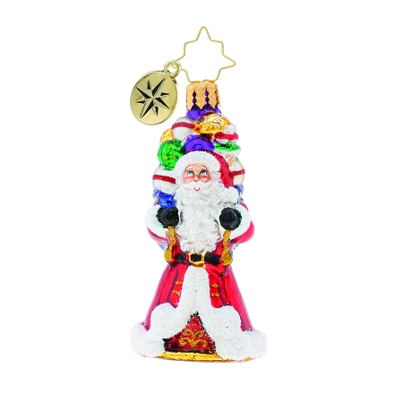 RADKO 1019733 IT AIN'T HEAVY GEM - SANTA WITH BAG OF GIFTS ORNAMENT - NEW 2019 (27-2)