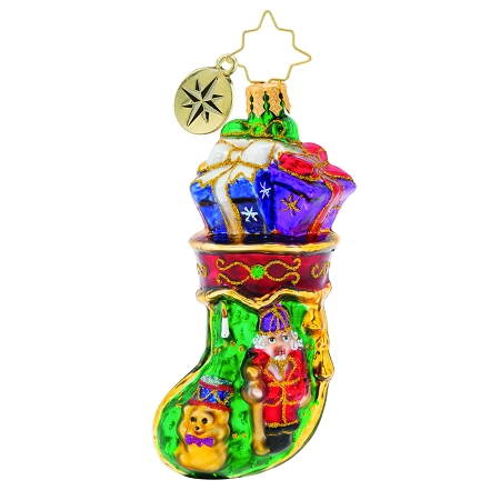 RADKO 1019740 ROYAL STOCKING STUFFER GEM - STOCKING WITH GIFTS ORNAMENT - NEW 2019 (27-3)