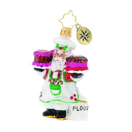 RADKO 1019743 SUGAR AND SPICE SANTA GEM - BAKING SANTA WITH CAKES ORNAMENT - NEW 2019 (27-4)