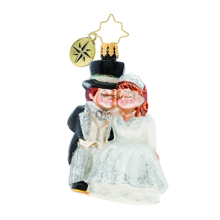 RADKO 1019748 AN ALTERED STATE GEM - WEDDING - BRIDE AND GROOM ORNAMENT - NEW 2019 (27-5)