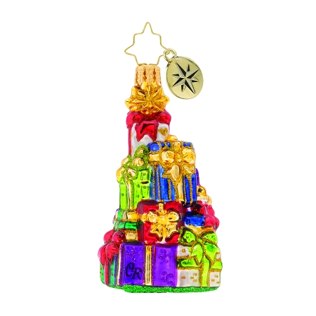 RADKO 1019759 A VERY GIFTED TREE GEM - STACK OF PRESENTS ORNAMENT - NEW 2019 (27-6)