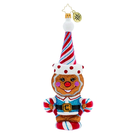 RADKO 1019788 A SWEET TREAT! - GINGERBREAD BOY WITH CANDY CANES ORNAMENT - NEW 2019 (68-2)