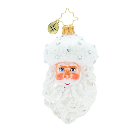 RADKO 1019897 WINTER FROST SANTA GEM - SANTA'S HEAD WITH JEWELS ORNAMENT - NEW 2019 (27-7)