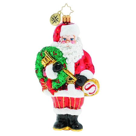 RADKO 1020039  - THE KEY TO CHRISTMAS CHEER - SANTA HOLDING THE KEY TO CHRISTMAS ORNAMENT - NEW 2019 (68-3)
