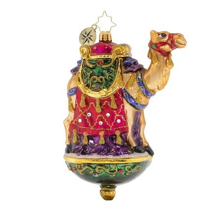 RADKO 1020103 ONE CHIC CAMEL - JEWELED CAMEL WITH REGAL SADDLE ORNAMENT - NEW 2020 (20-1)