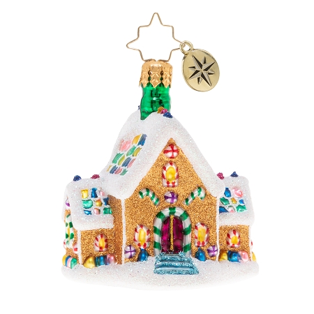 RADKO 1020136 GINGERBREAD DREAM HOME GEM - GINGERBREAD HOUSE ORNAMENT - NEW 2020 (28-1)