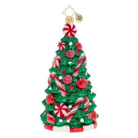 RADKO 1020141 PEPPERMINT PARADISE TREE -  CHRISTMAS TREE WITH PEPPERMINTS AND CANDY CANES ORNAMENT - NEW 2020 (20-1)