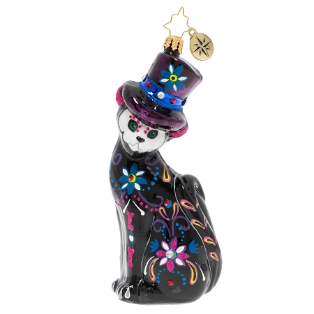 RADKO 1020187 A SPIRITED FELINE - HALLOWEEN - DAY OF THE DEAD CAT ORNAMENT - NEW 2020 (H9)