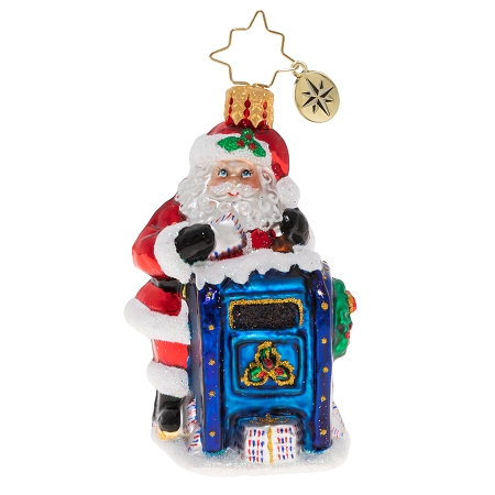 RADKO 1020230 DEAR SANTA GEM - MAILMAN SANTA AND MAILBOX ORNAMENT - NEW 2020 (28-2)