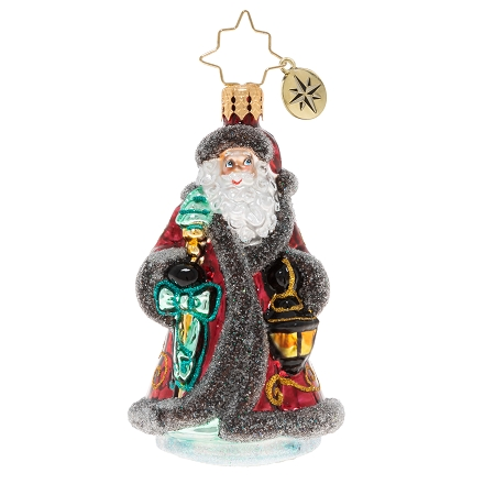 RADKO 1020241 TRAVELING FATHER CHRISTMAS GEM - SANTA WITH LANTERN ORNAMENT - NEW 2020 (28-3)