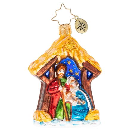 RADKO 1020242 ASLEEP IN THE MANGER GEM - NATIVITY ORNAMENT - NEW 2020 (28-3)