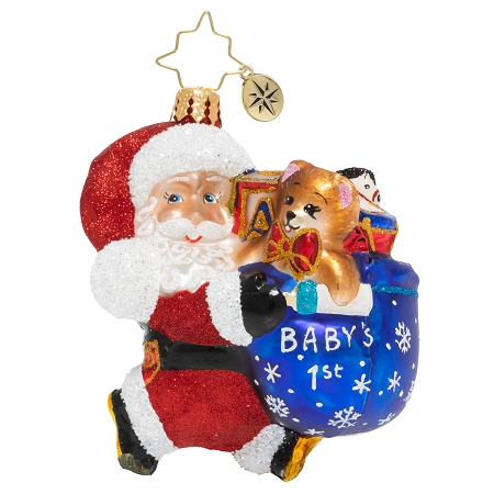RADKO 1020243 HURRY SANTA GEM - NOT DATED - BABY'S 1ST ORNAMENT - NEW 2020 (28-3)