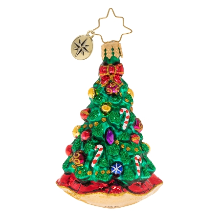 RADKO 1020249 CHRISTMAS TRADITION GEM - CHRISTMAS TREE WITH CANDY CANES ORNAMENT - NEW 2020 (28-4)