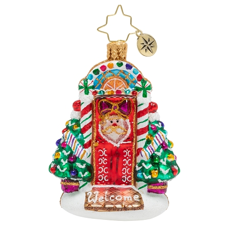 RADKO 1020253 SWEET HOME DOOR DECOR GEM - DECORATED FRONT DOOR ORNAMENT - NEW 2020 (28-5)
