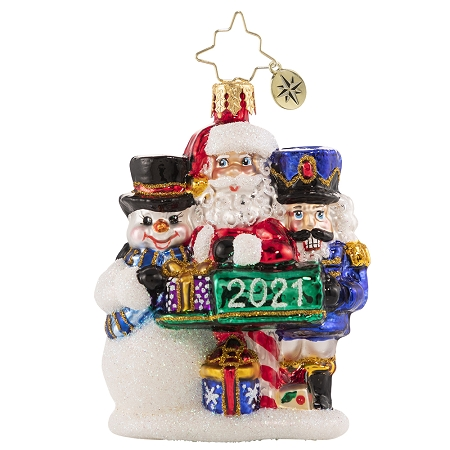 RADKO 1020645 A FOREVER-TREASURED TRIO 2021 GEM - DATED 2021 - SANTA SNOWMAN NUTCRACKER ORNAMENT - NEW 2021 (29-3)
