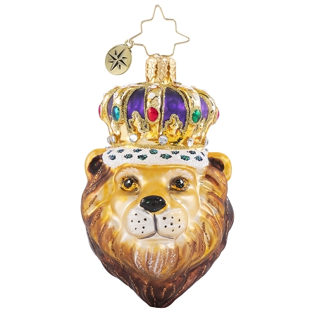 RADKO 1020654 ROARING ROYALTY GEM - LION WITH CROWN ORNAMENT - NEW 2021 (29-5)