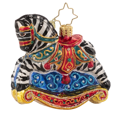 RADKO 1020662 ROCKING IN STRIPES GEM - ROCKING ZEBRA ORNAMENT - NEW 2021 (29-6)