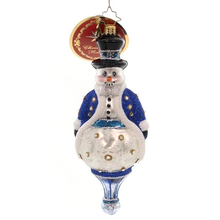 RADKO 6010167b ADORNED GENTLEMEN ASSORTMENT - JEWELED SNOWMAN - NEW 2016 (16 - 16)