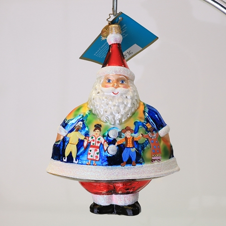 RADKO 3011576 MERRY MAXIMUS - SALES REP DESIGNER FOR A DAY LINDA P. - EXCLUSIVE SANTA ORNAMENT - NEW 2007 (MAX)